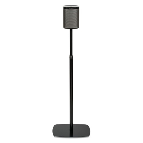 Flexson-Adjustable-Floor-Stand-for-Sonos-Play-1-Black-2---Update-TV-&-Stereo