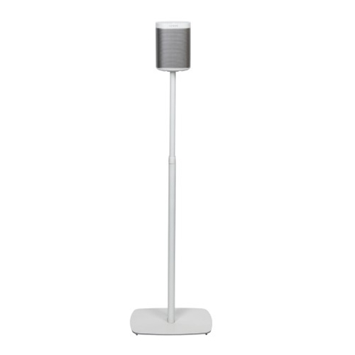 Flexson-Adjustable-Floor-Stand-for-Sonos-Play-1-White-3---Update-TV-&-Stereo