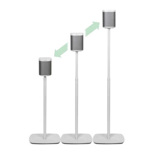 Flexson-Adjustable-Floor-Stand-for-Sonos-Play-1-White---Update-TV-&-Stereo