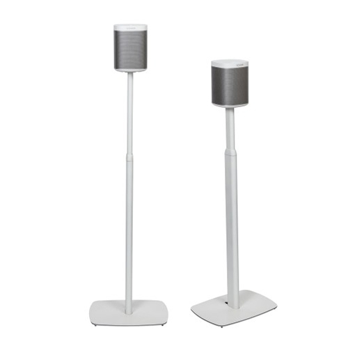 Flexson-Adjustable-Floor-Stands-for-Sonos-Play-1-Pair-White---Update-TV-&-Stereo