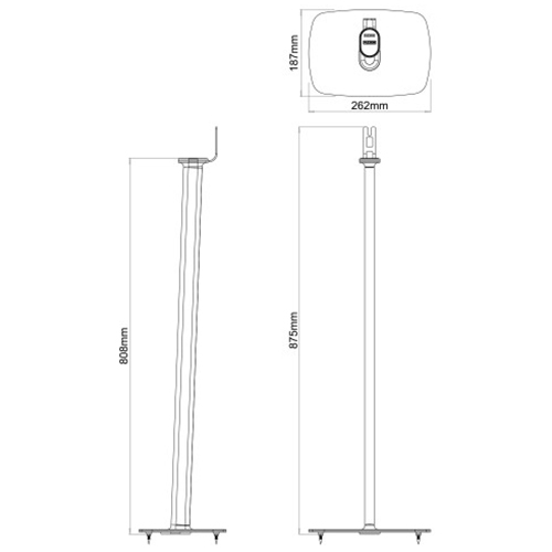 Flexson-Pair-of-Floor-Stands-for-Sonos-Play-1-Diagram--Update-TV-&-Stereo