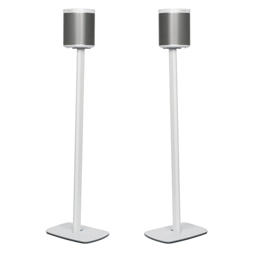 Flexson-Pair-of-Floor-Stands-for-Sonos-Play-1-White-2---Update-TV-&-Stereo