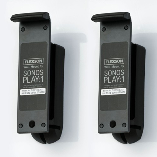 Flexson-Wall-Mounts-for-Sonos-Play-1-Pair-Black---Update-TV-&-Stereo