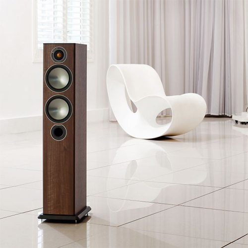Monitor-Audio-Bronze-5-Tower-Speaker-Walnut-Lifestyle---Update-TV-&-Stereo