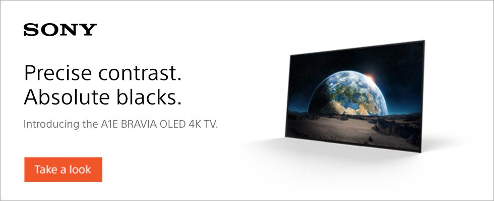 Sony A1E OLED TV Banner